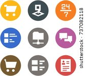 origami corner style icon set   ... | Shutterstock .eps vector #737082118