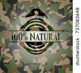 100  natural on camo texture | Shutterstock .eps vector #737083648