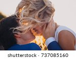 love story of the beautiful... | Shutterstock . vector #737085160