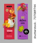 vector fall banner for web or... | Shutterstock .eps vector #737089744