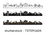 black and brown buildings... | Shutterstock .eps vector #737091604
