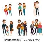 family development stages set... | Shutterstock .eps vector #737091790