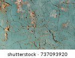 cracks. background surface with ... | Shutterstock . vector #737093920
