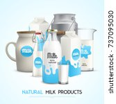 milk product background with... | Shutterstock .eps vector #737095030