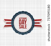veterans day sale emblem with... | Shutterstock .eps vector #737095180