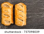 Sausage Rolls In Pastry  On A...