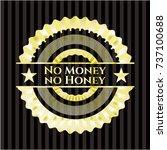 no money no honey gold badge or ... | Shutterstock .eps vector #737100688