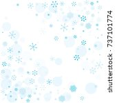 christmas background with... | Shutterstock .eps vector #737101774
