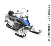 Snowmobile Isolated On White....