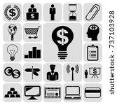set of 22 business icons or... | Shutterstock .eps vector #737103928