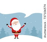 santa claus speech bubble empty ... | Shutterstock .eps vector #737106574