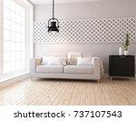 white scandinavian room... | Shutterstock . vector #737107543