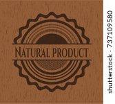 natural product wooden emblem.... | Shutterstock .eps vector #737109580