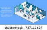 isometric 3d vector... | Shutterstock .eps vector #737111629