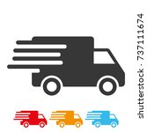 delivery car icon vector. | Shutterstock .eps vector #737111674