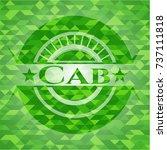 cab green emblem. mosaic... | Shutterstock .eps vector #737111818