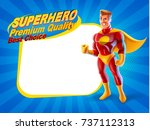 premium quality banner  with... | Shutterstock .eps vector #737112313