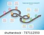 isometric navigation map... | Shutterstock .eps vector #737112553