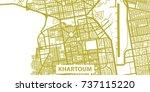 detailed vector map of khartoum ... | Shutterstock .eps vector #737115220