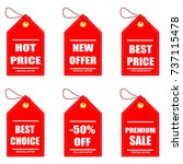trendy sale labels in flat... | Shutterstock .eps vector #737115478