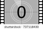 a classic movie countdown frame ... | Shutterstock .eps vector #737118430