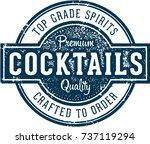 premium cocktails vintage stamp ... | Shutterstock .eps vector #737119294