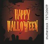 vector halloween poster | Shutterstock .eps vector #737120659