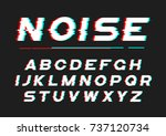 decorative bold font with... | Shutterstock .eps vector #737120734