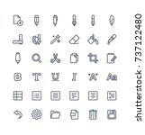 vector thin line icons set ... | Shutterstock .eps vector #737122480