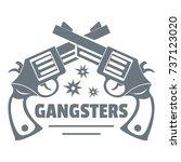 gangsters logo. vintage...