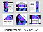 abstract vector layout... | Shutterstock .eps vector #737124664