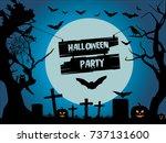 halloween party. halloween...   Shutterstock .eps vector #737131600