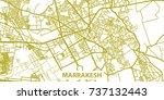 detailed vector map of... | Shutterstock .eps vector #737132443