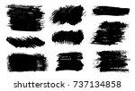 grunge stains set. ink splatter ... | Shutterstock .eps vector #737134858