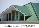 the house with plastic windows... | Shutterstock . vector #737141890
