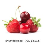 fresh ripe berries photographed ... | Shutterstock . vector #73715116