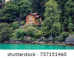 view from lake como  italy | Shutterstock . vector #737151460