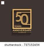 50 years anniversary... | Shutterstock .eps vector #737152654