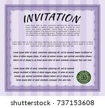 violet retro invitation...