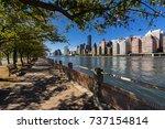 summer view on manhattan... | Shutterstock . vector #737154814