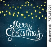 merry christmas and new year... | Shutterstock . vector #737155024