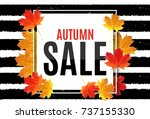 abstract  illustration autumn... | Shutterstock . vector #737155330