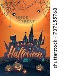 happy halloween vector  poster. ...