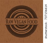 raw vegan food retro style...