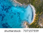beautiful beach  coast and bay... | Shutterstock . vector #737157559