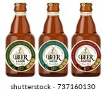 beer labels and neck labels on... | Shutterstock .eps vector #737160130