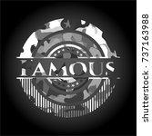 famous grey camo emblem | Shutterstock .eps vector #737163988