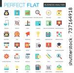 vector set of flat business... | Shutterstock .eps vector #737164918
