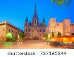 panorama of cathedral of the... | Shutterstock . vector #737165344