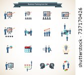 business people presentation... | Shutterstock .eps vector #737170426